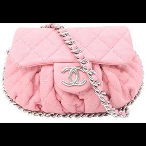 Beautiful Pink Chain Small Chain Around bag!